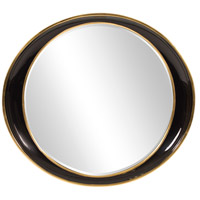Howard Elliott Collection 53076 Ellipse 39 X 35 inch Black Wall Mirror photo thumbnail