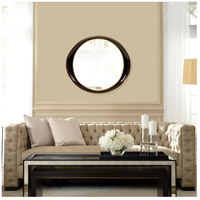 Howard Elliott Collection 53076 Ellipse 39 X 35 inch Black Wall Mirror alternative photo thumbnail