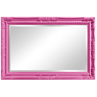 Howard Elliott Collection 53081HP Queen Ann 33 X 25 inch Hot Pink Wall Mirror alternative photo thumbnail