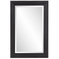 Howard Elliott Collection 53120 George 33 X 1 inch Matte Black Wall Mirror photo thumbnail