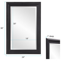 Howard Elliott Collection 53120 George 33 X 1 inch Matte Black Wall Mirror alternative photo thumbnail