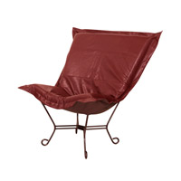 Howard Elliott Collection 555-193 Scroll Puff Deep Red Accent Chair Home Decor