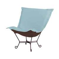 Howard Elliott Collection 555-200 Sterling Light Blue Accent Chair Home Decor