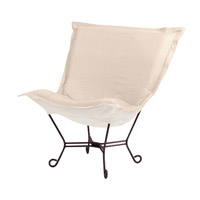 Howard Elliott Collection 555-203 Scroll Puff Sand Accent Chair Home Decor