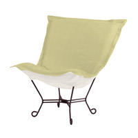 Howard Elliott Collection 555-204 Scroll Puff Willow Green Accent Chair Home Decor