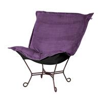 Howard Elliott Collection 555-223 Bella Deep Eggplant Accent Chair Home Decor