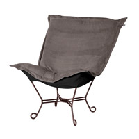 Howard Elliott Collection 555-225 Bella Pewter Gray Accent Chair Home Decor