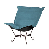 Howard Elliott Collection 555-250 Mojo Turquoise Blue Accent Chair photo thumbnail