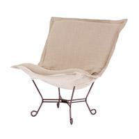 Howard Elliott Collection 555-610 Prairie Natural Linen Accent Chair Home Decor