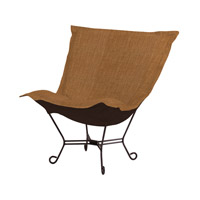 Howard Elliott Collection 555-886 Coco Rich Golden Topaz Brown Accent Chair photo thumbnail