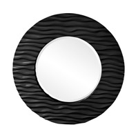 Howard Elliott Collection 56002BL Broadway 58 X 30 inch Black Wall Mirror, Round photo thumbnail