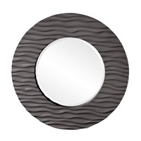 Howard Elliott Collection 56002CH Broadway 58 X 30 inch Charcoal Gray Wall Mirror, Round photo thumbnail