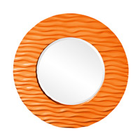 Howard Elliott Collection 56002O Broadway 58 X 30 inch Orange Wall Mirror, Round photo thumbnail