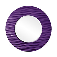 Howard Elliott Collection 56002RP Broadway 58 X 30 inch Royal Purple Wall Mirror, Round photo thumbnail