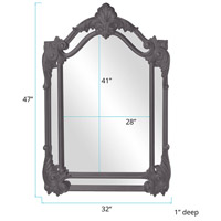Howard Elliott Collection 56004CH Cortland 47 X 32 inch Charcoal Gray Wall Mirror alternative photo thumbnail