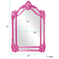 Howard Elliott Collection 56004HP Cortland 47 X 32 inch Hot Pink Wall Mirror alternative photo thumbnail