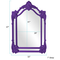 Howard Elliott Collection 56004RP Cortland 47 X 32 inch Royal Purple Wall Mirror alternative photo thumbnail