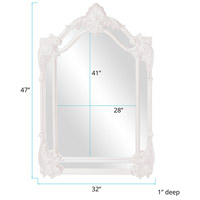 Howard Elliott Collection 56004W Cortland 47 X 32 inch White Wall Mirror alternative photo thumbnail