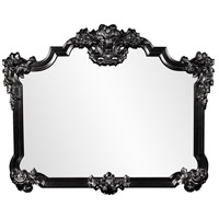 Howard Elliott Collection 56006BL Avondale 48 X 39 inch Black Wall Mirror photo thumbnail