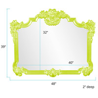 Howard Elliott Collection 56006MG Avondale 48 X 39 inch Green Wall Mirror alternative photo thumbnail