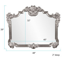 Howard Elliott Collection 56006N Avondale 48 X 39 inch Nickel Wall Mirror alternative photo thumbnail