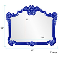 Howard Elliott Collection 56006RB Avondale 48 X 39 inch Glossy Royal Blue Wall Mirror alternative photo thumbnail