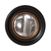 Albert 21 X 21 inch Black Lacquer Wall Mirror, Round