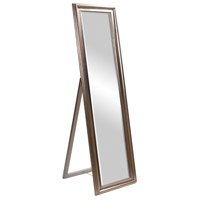Howard Elliott Collection 56019 Taylor 65 X 20 inch Bright Silver Leaf Floor Mirror, Rectangle