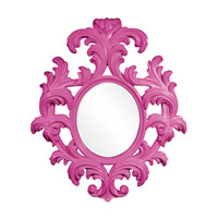 Howard Elliott Collection 56044HP Alexi 59 X 50 inch Hot Pink Wall Mirror photo thumbnail