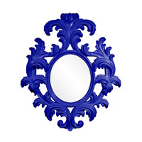 Howard Elliott Collection 56044RB Alexi 59 X 50 inch Royal Blue Wall Mirror photo thumbnail