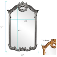 Howard Elliott Collection 56048CH Roman 51 X 32 inch Charcoal Gray Wall Mirror alternative photo thumbnail