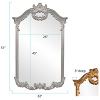 Howard Elliott Collection 56048N Roman 51 X 32 inch Nickel Wall Mirror alternative photo thumbnail