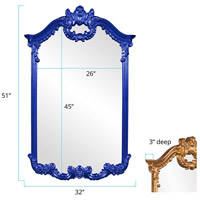 Howard Elliott Collection 56048RB Roman 51 X 32 inch Royal Blue Wall Mirror alternative photo thumbnail