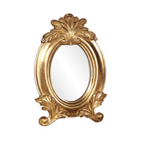 Countess 12 X 8 inch Bright Gold Leaf Mirror Home Decor, Oval