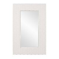 Howard Elliott Collection 56094 Canfield 63 X 39 inch Glossy Bright White Wall Mirror, Rectangle photo thumbnail
