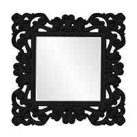 Howard Elliott Collection 56099BL Reese 47 X 47 inch Black Wall Mirror photo thumbnail