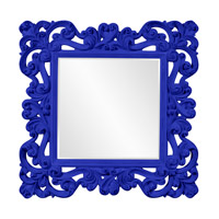 Howard Elliott Collection 56099RB Reese 47 X 47 inch Royal Blue Wall Mirror photo thumbnail