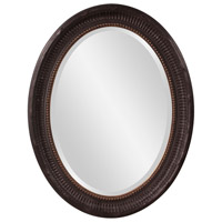Howard Elliott Collection 56104 Nero 34 X 26 inch Rustic Black Wall Mirror, Oval, Gold Highlights photo thumbnail