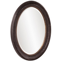 Howard Elliott Collection 56104 Nero 34 X 26 inch Rustic Black Wall Mirror, Oval, Gold Highlights alternative photo thumbnail