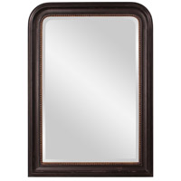 Howard Elliott Collection 56107 Carmichael 42 X 30 inch Rustic Black Wall Mirror, Rectangle, Gold Highlights photo thumbnail