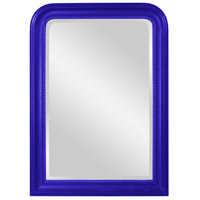Howard Elliott Collection 56107RB Carmichael 42 X 30 inch Glossy Royal Blue Wall Mirror photo thumbnail