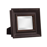 Agnes 12 X 10 inch Rustic Black and Gold Mirror Home Decor, Rectangle