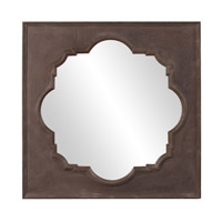 Howard Elliott Collection 56117 Raja 38 X 38 inch Textured Rust Brown Wall Mirror, Square photo thumbnail