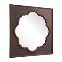 Howard Elliott Collection 56117 Raja 38 X 38 inch Textured Rust Brown Wall Mirror, Square alternative photo thumbnail
