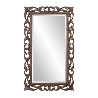 Howard Elliott Collection 56118 Cheltenham 57 X 34 inch Textured Rust Brown Wall Mirror, Rectangle photo thumbnail