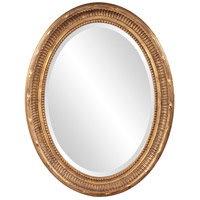 Howard Elliott Collection 56120 Nero 34 X 26 inch Rich Country Gold Wall Mirror, Oval photo thumbnail