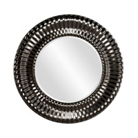 Howard Elliott Collection 56149BL Sao Paulo 31 X 31 inch Black Wall Mirror, Round photo thumbnail