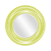 Howard Elliott Collection 56149MG Sao Paulo 31 X 31 inch Moss Green Wall Mirror, Round photo thumbnail