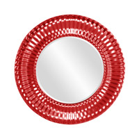 Howard Elliott Collection 56149R Sao Paulo 31 X 31 inch Glossy Red Wall Mirror, Round photo thumbnail
