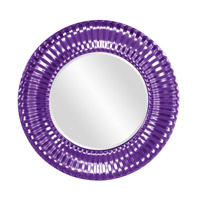 Howard Elliott Collection 56149RP Sao Paulo 31 X 31 inch Glossy Purple Wall Mirror, Round photo thumbnail